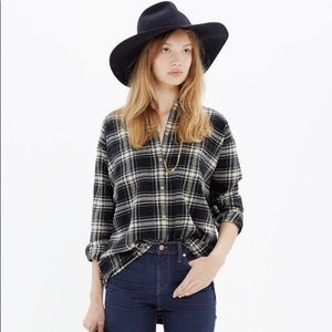 Madewell Trapeze Flannel Shirt in Overcast Plaid